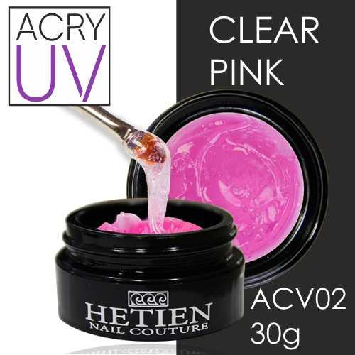 AcryUv Clear Pink 30gr ACV02