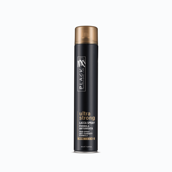 black professional line finishing ultra strong lacca spray 500ml