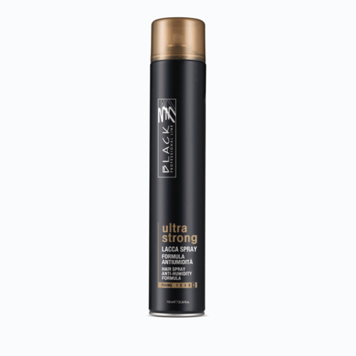 black professional line finishing ultra strong lacca spray 750ml 1
