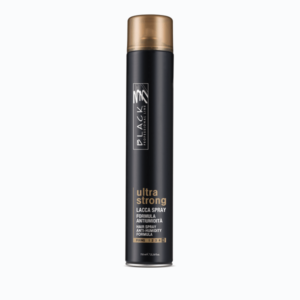 black professional line finishing ultra strong lacca spray 750ml