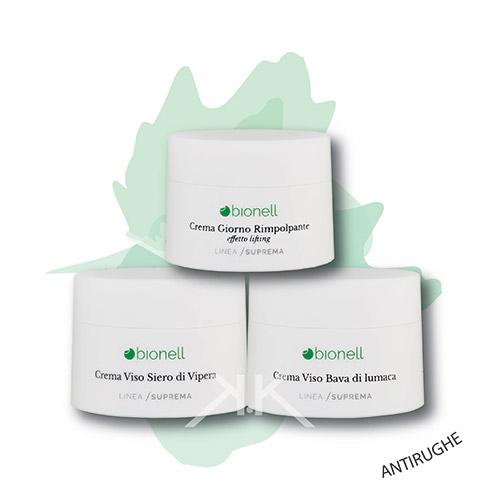 Bionell combo crema siero cipera 50 ml+ creva bava di lumaca 50ml + crema rimpolpante lifting 50 ml bionell_kosmetika-