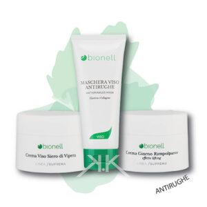 Bionell combo masc. ant. 100ml + cr. siero vipera 50 ml + cr. rimp. lifting 50ml bionell_kosmetika_